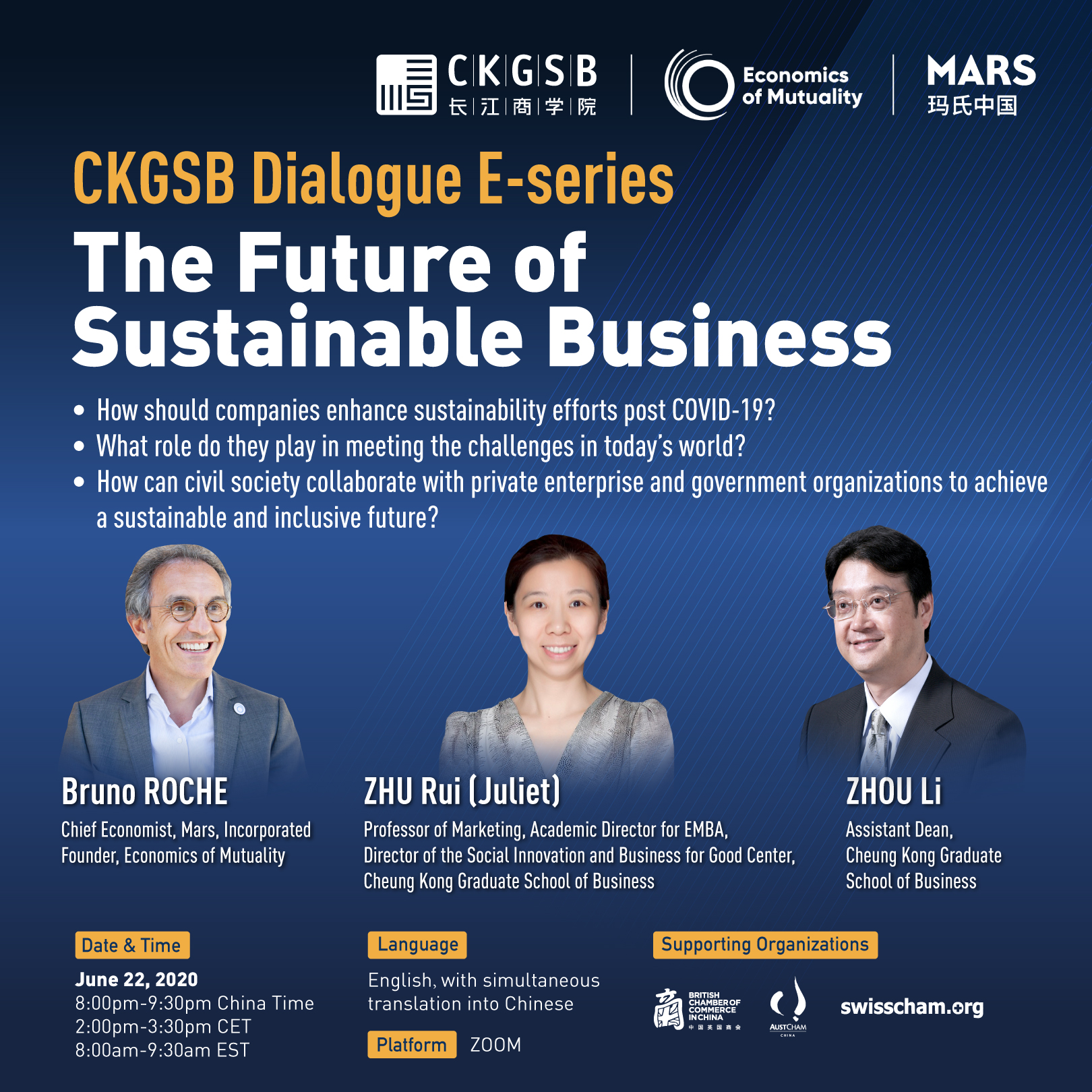 CKGSB Webinar: The Future of Sustainable Business
